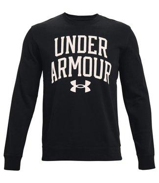 Under Armour UA RIVAL TERRY CREW-Zwart/Onyx Wit