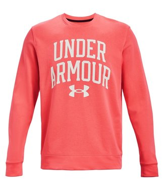 Under Armour UA RIVAL TERRY CREW-Venom Red / Onyx White
