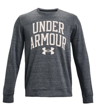 Under Armour UA RIVAL TERRY CREW-Pitch Grijs Full Heather/Onyx Wit
