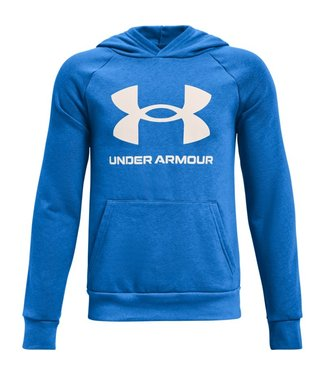 Under Armour UA RIVAL FLEECE HOODIE-Blauer Stromkreis / Onyx Weiß