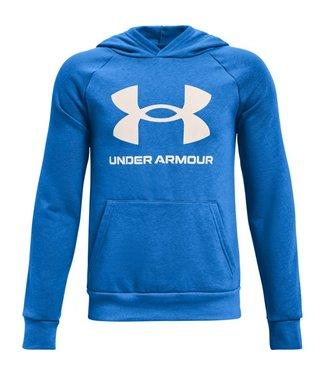Under Armour UA RIVAL FLEECE HOODIE-Blauw Circuit/Onyx Wit