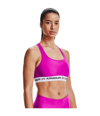 Under Armour UA Crossback Mid Bra-Meteor Pink