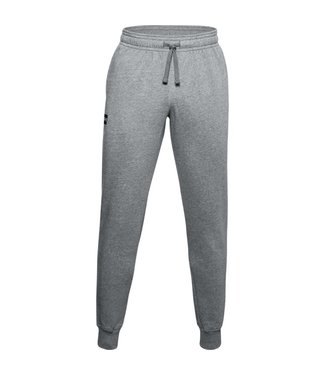 Under Armour UA Rival Fleece Joggers-Pitch Light Gray / White