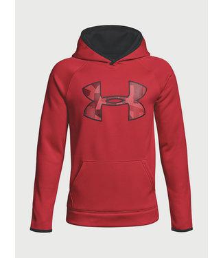 Under Armour UA Armour Fleece Hoodie voor jongens Groot logo - rood / zwart