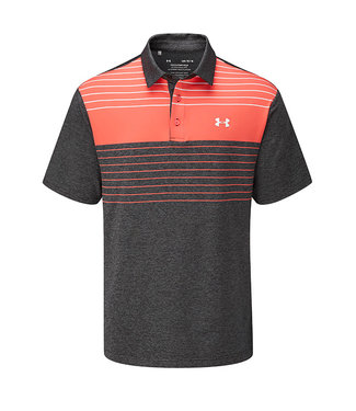 Under Armour UA Playoff Polo 2.0-Schwarz / Giftrot