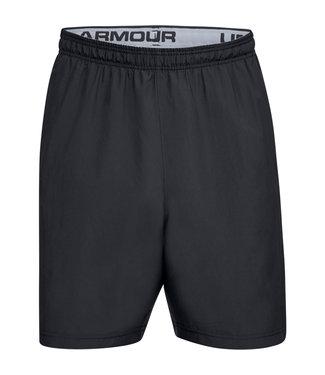 Under Armour UA Woven Wordmark Shorts-Black // Zinc Gray