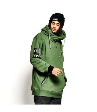 Oneskee Sudadera con capucha impermeable para hombre Verde