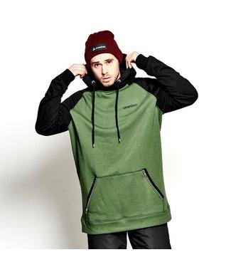 Oneskee Sudadera con capucha impermeable para hombre Verde / Negro