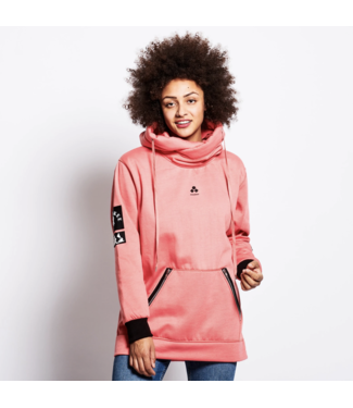 Oneskee Sudadera con capucha impermeable para mujer Rosa