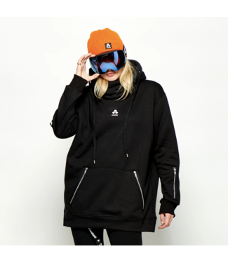 Oneskee Waterdichte dames hoodie Zwart