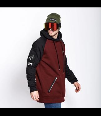 Oneskee Waterdichte heren hoodie Burgundy/Zwart