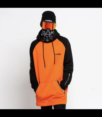 Oneskee Sudadera con capucha impermeable para hombre Naranja / Negro