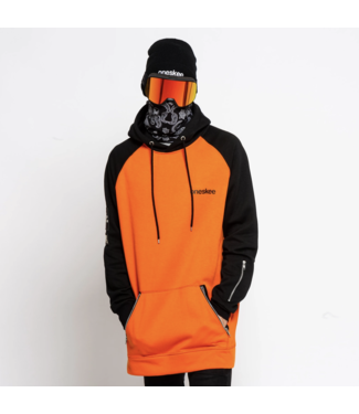 Oneskee Wasserdichter Herren Hoodie Orange / Schwarz