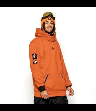 Oneskee Sudadera con capucha impermeable para hombre Naranja