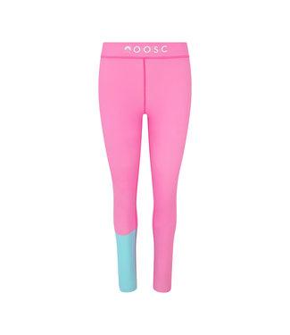 OOSC Leggings de mujer color rosa brillante