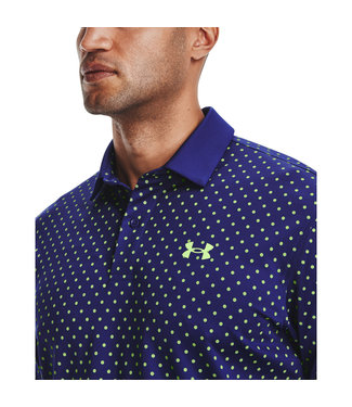 Under Armour UA Performance Printed Polo-Regal / Summer Lime / Summer Lime