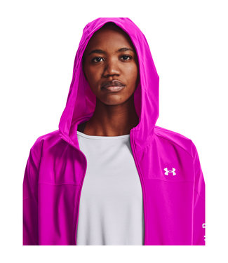 Under Armour Woven jacket with hood-Meteor Pink / White