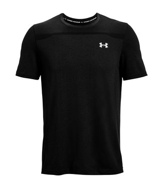 Under Armour SS-Negro sin costuras