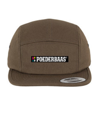 Poederbaas 5-panel cap / snapback with emblem - olive