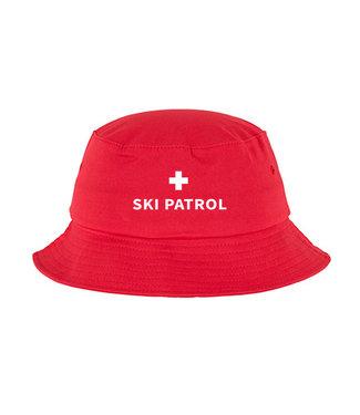 Poederbaas Ski patrol bucket hat powder boss