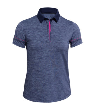 Under Armour Zinger SS Hthr Polo-Midnight Navy