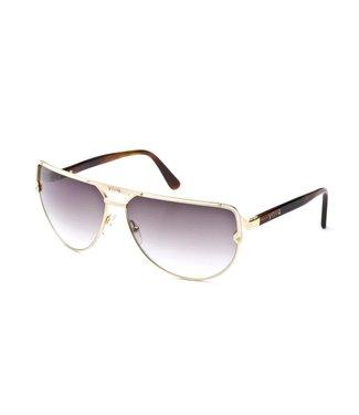 Yniq Sunglasses Gold gradient brown lens