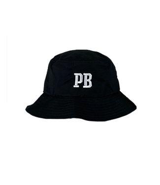 Poederbaas Sombrero de pescador PB negro bordado