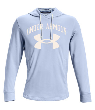 Under Armour UA RIVAL TERRY BIG LOGO HD-Isotope Blue / Onyx White