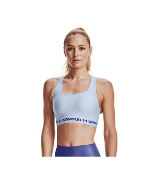 Under Armour UA Crossback Mid Bra-Isotope Blauw