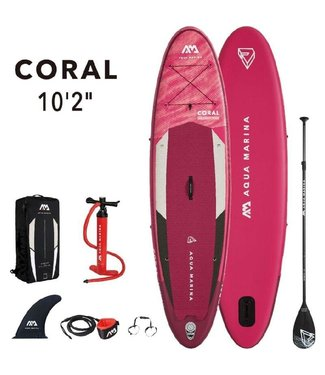 Coral inflatable SUP board 10'2 Pink
