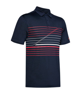 Under Armour Crestable Playoff Polo 2.0 - Academy Blauw