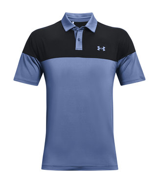 Under Armour UA T2G Blocked Polo-Mineral Blue / Black / Mineral Blue