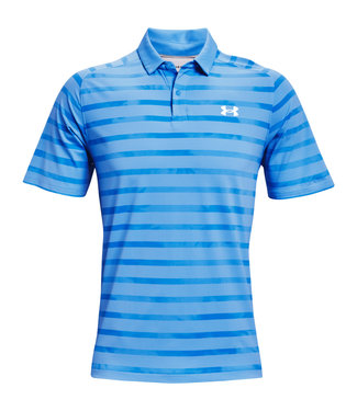 Under Armour Polo à rayures florales Iso-Chill UA - Bleu
