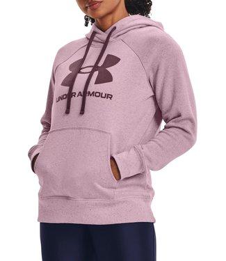 Under Armour Rival Fleece Logo Hoodie-Mauve Pink // Ash Plum