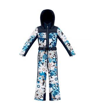 Poivre Blanc Ski Suit with Floral Print Grove Blue - Girls