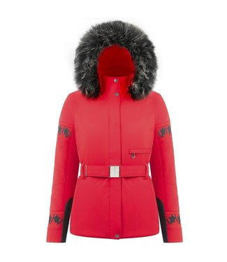 Poivre Blanc Dames Stretch Ski Jas Scarlet Red