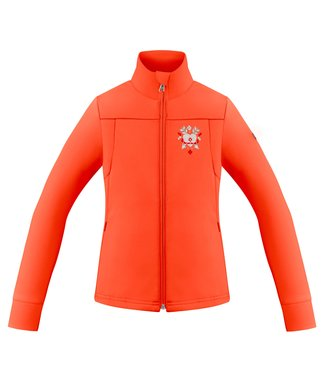 Poivre Blanc Veste polaire stretch Softshell Lava Orange
