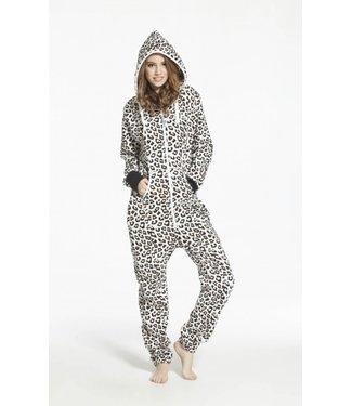 Combinaison-pantalon imprimé léopard