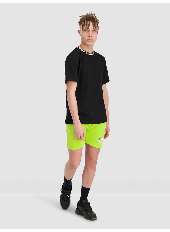 Collar T-shirt Black
