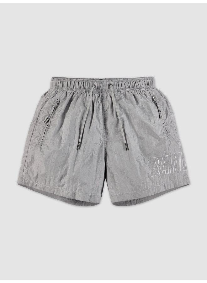 Big Script Swimshort Grey