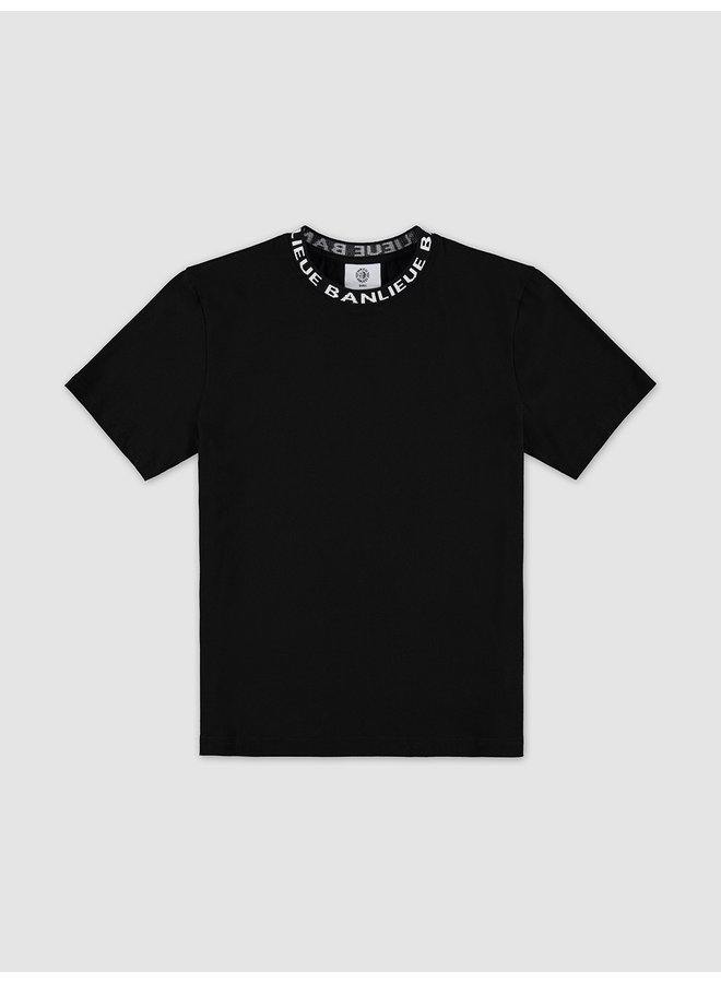 Collar T-shirt Black