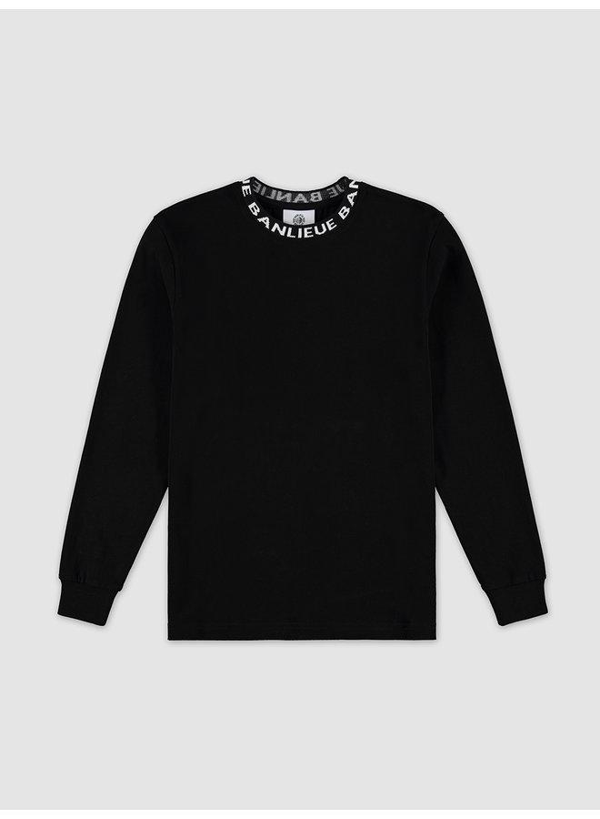 Longsleeve Collar T-shirt Black