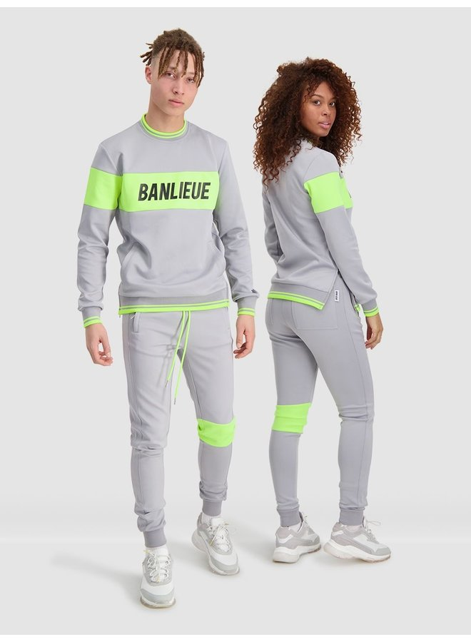 Band Tracksuit Grey/Lime