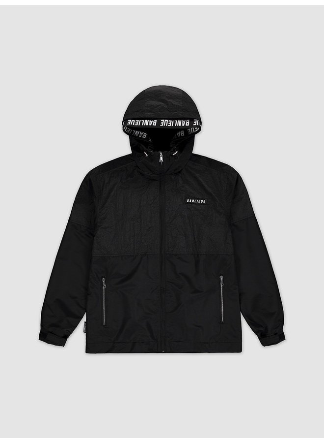 Double Hooded Windrunner Black
