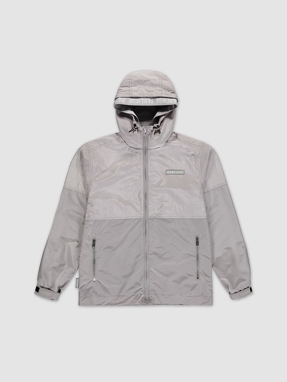 Double Hooded Windrunner Grey