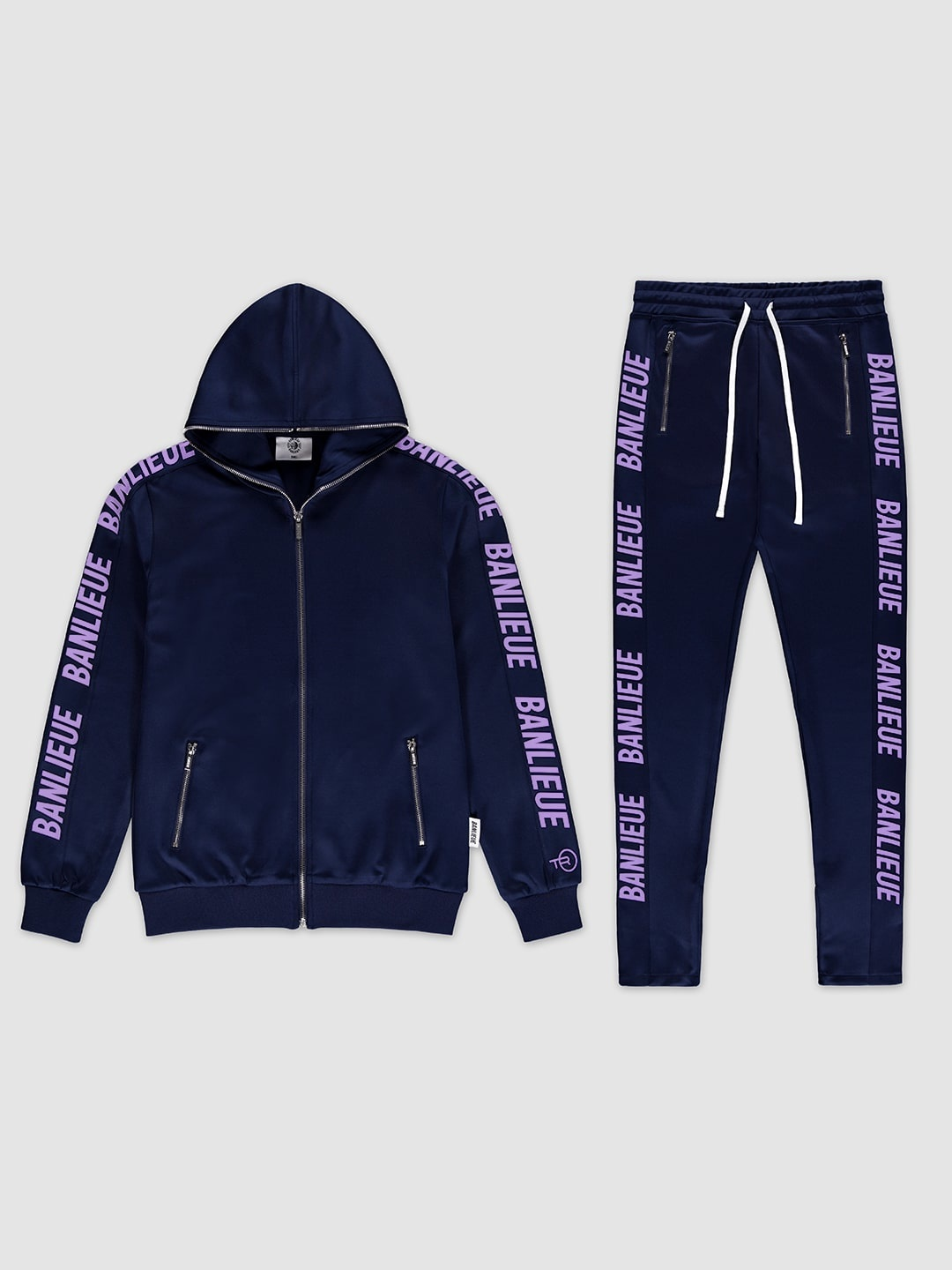 Full-zip Tracksuit Navy/Purple