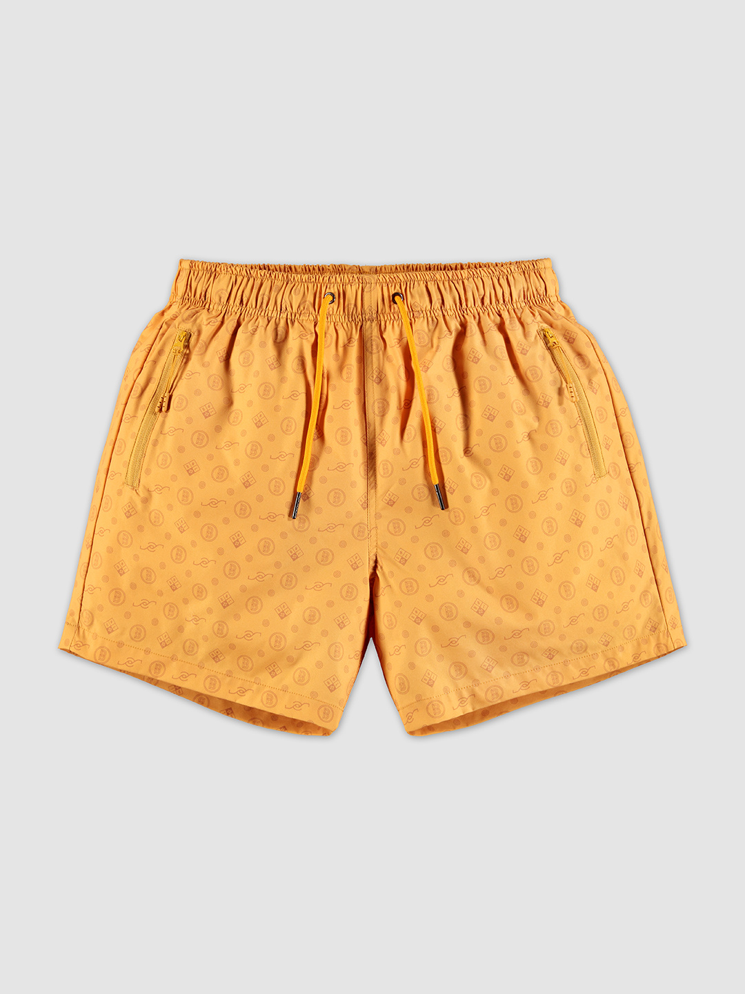 All-over Pattern Swimshorts Yellow