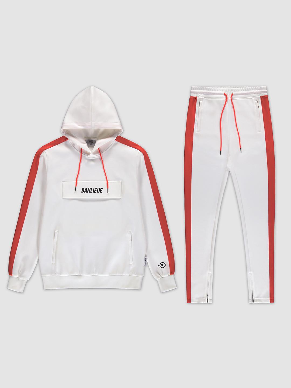 Pocket Tracksuit White/Orange