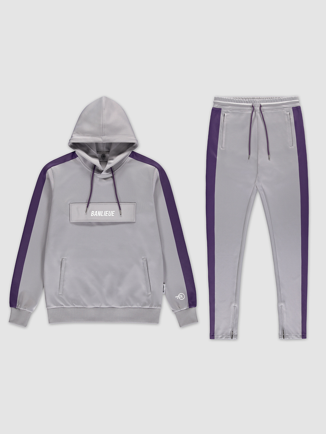 Pocket Tracksuit Grey/Purple