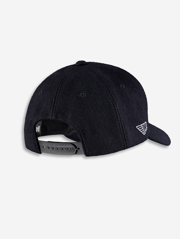 WOOL CHAMPION CAP NOIRE